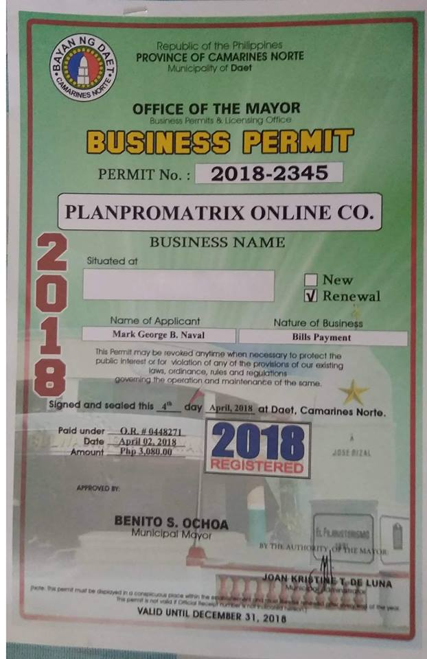 business permit of PPM