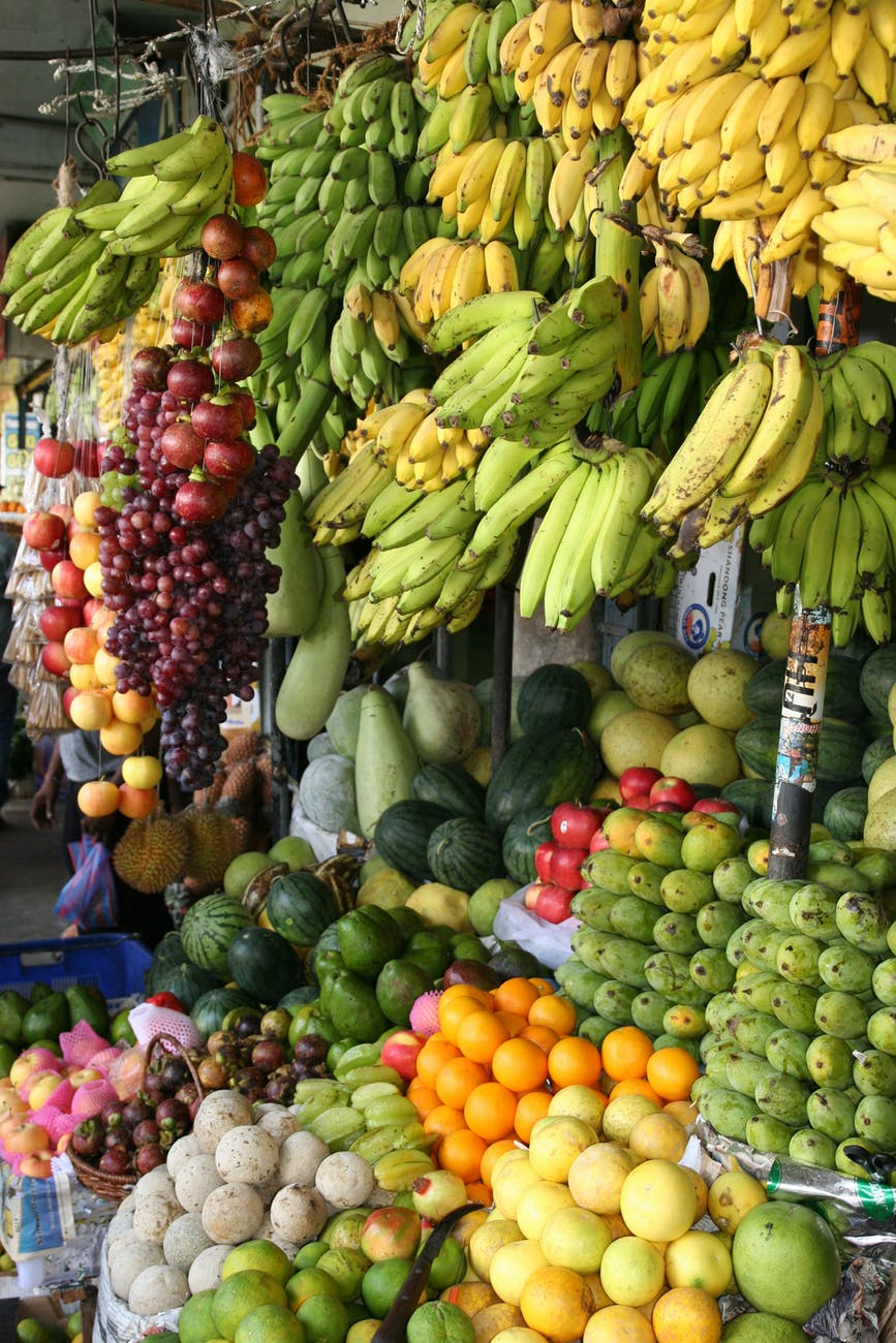 assorted fruits stall